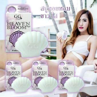 GG Plus Heaven Bloom Soap ผลิตภัณฑ์ทำความสะอาดบริเวณภายนอกจุดซ่อนเร้นของผู้หญิง ปรับสีผิวให้เนียนใส ลดกลิ่นไม่พึงประสงค์ อ่อนโยนด้วยสารสกัดจากธรรมชาติ 50g. 4 ชิ้น