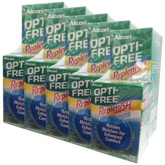 ALCON OPTI-FREE Replenish สูตรใหม่ ขนาด 300 ml. (5 กล่อง) แถมฟรี Opti free Replenish ขนาด 60 ml. (5 ขวด)