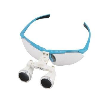 Blue 3.5X 320mm Dentist Dental Surgical Medical Binocular Loupes Optical Glass Loupe