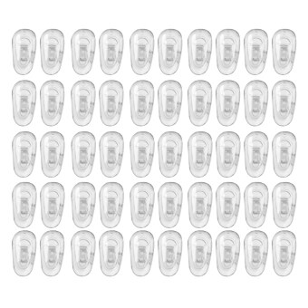 Silicone Eyeglass Nose Pads Oval Push On 25 Pairs
