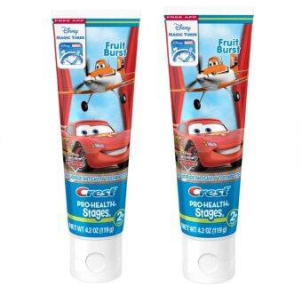 ยาสีฟันเด็ก Crest Pro-Health Stages Kids Toothpaste featuring Disney Pixar Cars and Planes with Disney MagicTimer App by Oral-B, 4.2 oz x2 ชิ้น