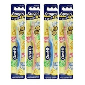 Oral-B Stages 1 Toothbrush 4 - 24 months 4 Pack /GENUINE and ORIGINAL Packing