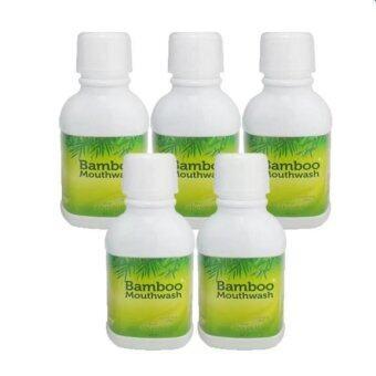 Hylife Bamboo mouthwash น้ำยาบ้วนปาก ขจัดคราบหินปูน ชา กาแฟ (300 ml.) 5 ขวด