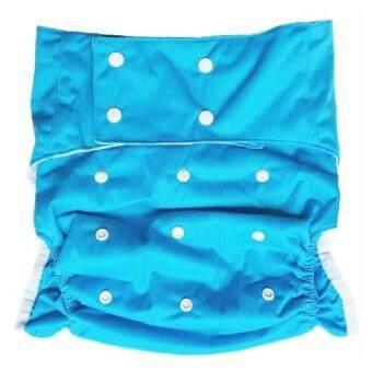 BABYKIDS95 ผ้าอ้อมผู้ใหญ่ ซักได้ กันน้ำ รอบเอว 23-38นิ้ว (สีฟ้า)
