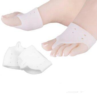 NYB - ซิลิโคนป้องกันหน้าเท้า นิ้วเท้าคด นิ้วเท้าโก่ง ป้องกันรองเท้ากัดด้านข้างนิ้วเท้า 1 คู่ (สีขาว)