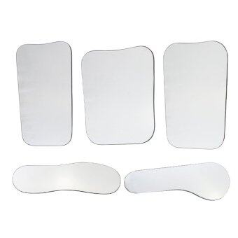 5pcs Dental Orthodontic Intraoral Photographic 2sided Rhodium Glass Mirrors - intl