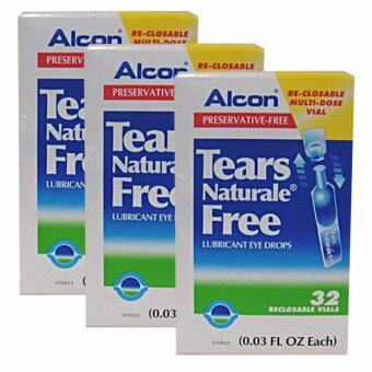 ALCON Tears Naturale Free - Preservative-free น้ำตาเทียม 0.03 FL.OZ (0.8 ml) 3 กล่อง