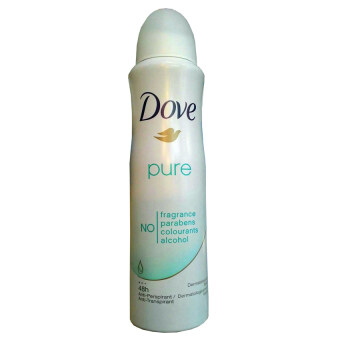 Dove Pure Antiperspirant Deodorant Spray Fragrance Free 48 Hour 150ml (1 ขวด)
