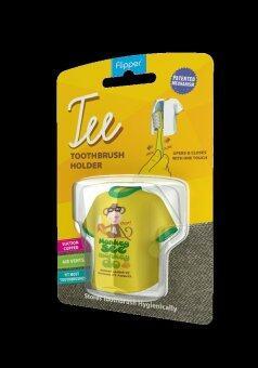 Flipper Tee ที่ครอบแปรงสีฟัน Tee Monkey See Monkey Do - สีเหลือง