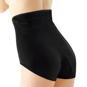 Feeling Touch รุ่น New High waist Hip Up Shorts - สีดำ (Size L-LL)