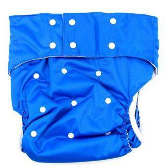BABYKIDS95 ผ้าอ้อมผู้ใหญ่ ซักได้ กันน้ำ รอบเอว 23-38นิ้ว (สีน้ำเงิน)