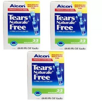 Alcon Eye Drops น้ำตาเทียม Tears Naturale Free Lubricant Eye Drops 0.3 ml. x 3กล่อง