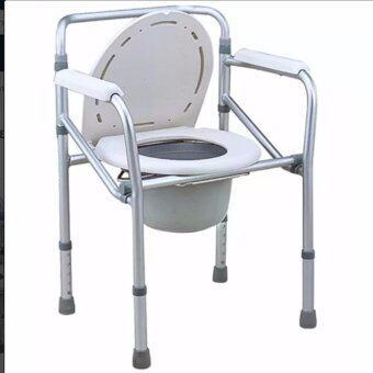 DDDiscount เก้าอี้นั่งส้วม อลูมิเนียมอัลลอยด์ แบบพับได้ (สีเทา)