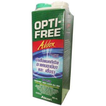Alcon Opti Free Aldox ออฟติ-ฟรีรีเพลนิช น้ำยาล้างคอนแทคเลนส์ พร้อมตลับใส่คอนแทคเลนส์ ขนาด 355 ml./กล่อง (1กล่อง)