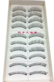 Fancyqube Fashion ฝ้ายธรรมชาติก้านขนตาปลอม MU-141