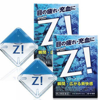 Rohto-Z-Eye-Drops-Ultra-refreshing-Feeling-Medicated-12ml-from-Japan จำนวน 2 กล่อง