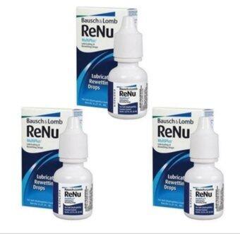 Bausch & Lomb Renu MultiPlus Lubricating & Rewetting Drops 8ml.น้ำตาเทียม น้ำยาหยอดตา x 3 กล่อง