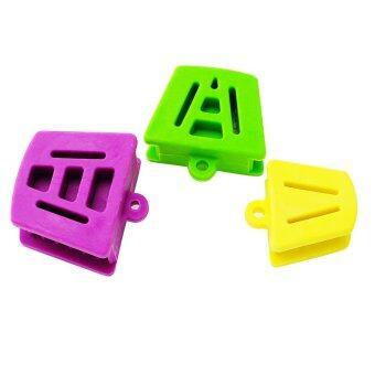 3ชิ้น/1 ชุดน้ำยางซิลิโคนแท่งยันกัดริมฝีปากสีม่วงสีเขียวสีเหลือง