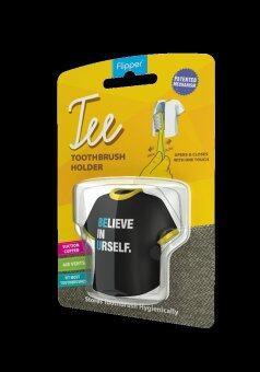 Flipper Tee ที่ครอบแปรงสีฟัน Tee Believe in Yourself - สีดำ