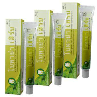 Botaya Herb ยาสีฟันสูตรต้นตำรับโบราณ ผสมสารสกัดจากธรรมชาติ เพื่อสุขภาพเหงือกที่แข็งแรง และยิ้มมั่นใจได้ทั้งวัน ขนาด 50 กรัม (3 หลอด)(...)