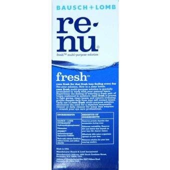 Renu Fresh Multi Purpose Solution 120 ml (4ขวด)รีนิว เฟรช น้ำยาล้างคอนแทคเลนส์