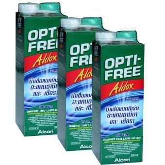 ALCON น้ำยาล้างคอนแทคเลนส์ออฟติ-ฟรี อัลดอกซ์ 355 มล. 3 ขวด