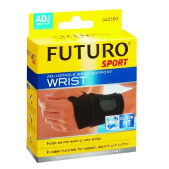 Futuro Sport Adjustable Wrist Support Wristฟูทูโร่ อุปกรณ์พยุงข้อมือแบบมีห่วงรองรับ ชนิดปรับกระชับได้(รุ่น09033)