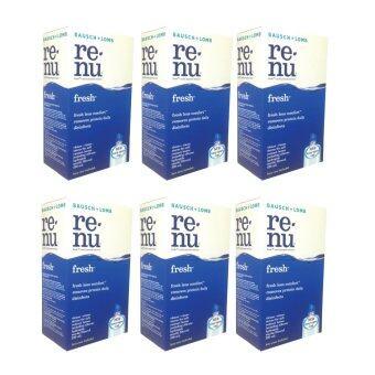 Bausch & Lomb Renu Fresh Multi Purpose Solution 120 ml น้ำยาล้างคอนแทคเลนส์ 6 กล่อง