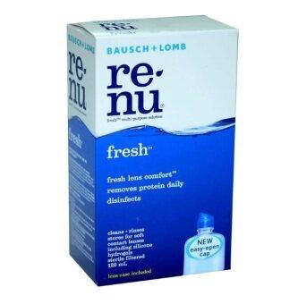 Bausch & Lomb น้ำยาล้างคอนแทคเลนส์ Renu Fresh Multi Purpose Solution 120 ml รีนิว เฟรช น้ำยาล้างคอนแทคเลนส์ 1 ขวด