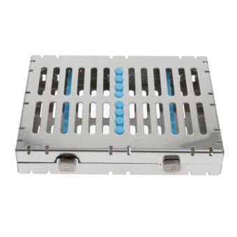 BolehDeals Dental Sterilization Cassette Disinfection Rack Tray Box For 10pc Instrument