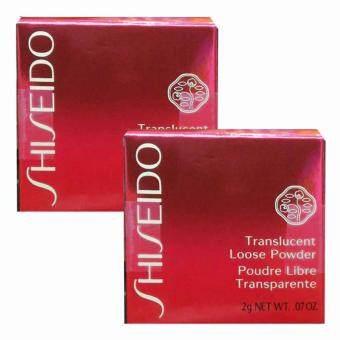Shiseido Translucent Loose Powder แป้งฝุ่นโปร่งแสงเนื้อเนียนละเอียด 2g (2 กระปุก)