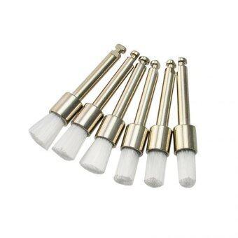 New 100pcs Dental White Nylon latch flat Polishing Polisher Prophy Brushes