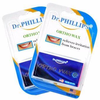 Dr. Phillips Ortho Wax [2 แพ็ค] ขี้ผึ้งสำหรับคนจัดฟัน แพ็คคู่ Made in USA