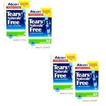 ALCON Tears Naturale Freeน้ำตาเทียม ไม่มีสารกันบูด0.03 FL.OZ (0.8 ml) 4กล่อง