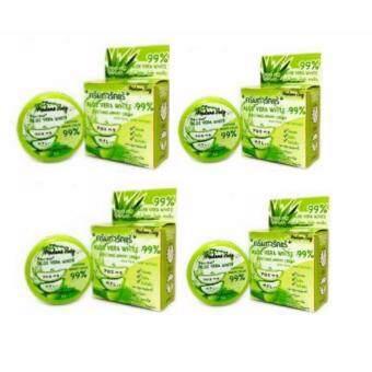ครีมทารักแร้ Aloe vera white soothing armpit cream 99% 5 กรัม ( 4 กล่อง)