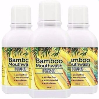 Bamboo Mouthwash Plus แบมบู เม้าท์วอช พลัส 3 ขวด