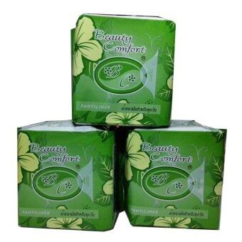 Beauty Comfort แอดเวล บิวตี้ สีเขียว แผ่นอนามัย สมุนไพร แผ่นรอง 3 ห่อ