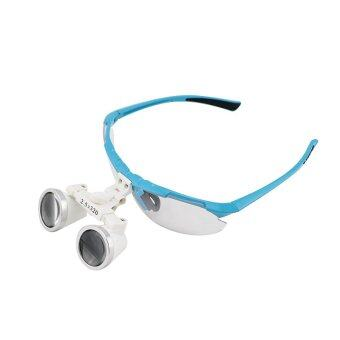 Blue 2.5X 320mm Dentist Dental Surgical Medical Binocular Loupes Optical Glass Loupe