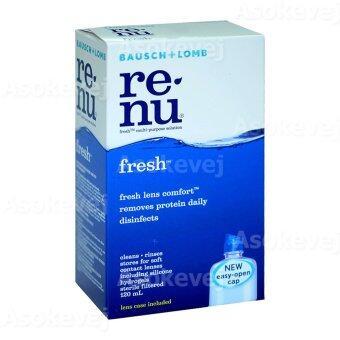 Renu Fresh Multi Purpose Solution 120 ml รีนิว เฟรช น้ำยาล้างคอนแทคเลนส์ 1ขวด