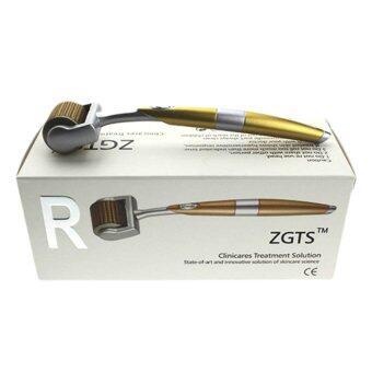 ZGTS Titanium Dermaroller เข็มกลิ้ง รักษาหลุมสิว เดอร์มาโรลเลอร์ from France Microneedle Roller หัวเข็ม 0.75 (Gold)