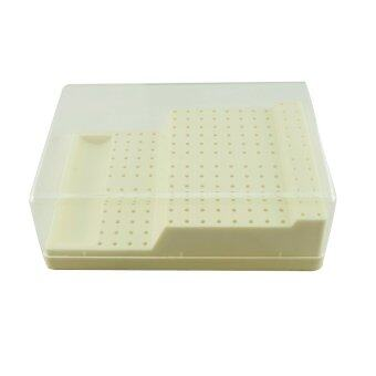 Dental Bur Block Holder Station with Lid - Plastic Holds 168 Burs RA - FG - intl