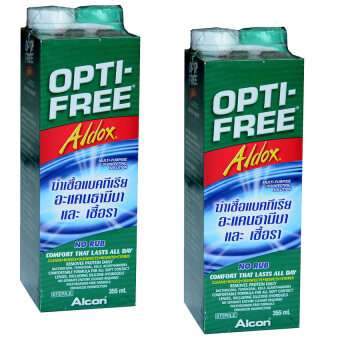 ALCONน้ำยาล้างคอนแทคเลนส์ออฟติ-ฟรี อัลดอกซ์355มล. 2ขวด