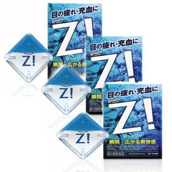 Rohto-Z-Eye-Drops-Ultra-refreshing-Feeling-Medicated-12ml-from-Japan จำนวน 3 กล่อง