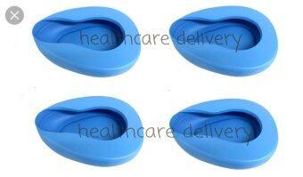 Banya Pharma หม้อนอนพลาสติก รองให้ผู้ป่วยขับถ่าย bed pan 4 ใบ