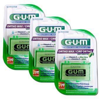 Butler Gum Ortho Wax ขี้ผึ้งสำหรับคนจัดฟันกลิ่นมิ้นท์ ป้องกันการระคายเคือง การบาดเนื้อเยื่อในช่องปาก 3 กล่อง