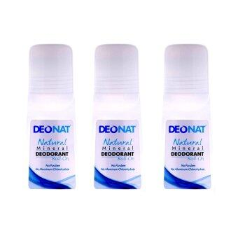 Deonat Natural Mineral Deodorant Roll On 65 Ml (3Pcs/Pack)