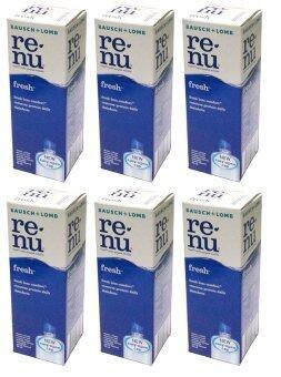 Bausch & Lomb น้ำยาล้างคอนแทคเลนส์ Renu Fresh Multi Purpose Solution 60 ml รีนิว เฟรช น้ำยาล้างคอนแทคเลนส์ 6 ขวด