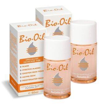 Bio oil ผลิตภัณฑ์รักษาแผลเป็นและรอยแตกลาย (60 ml. x 2 ขวด)