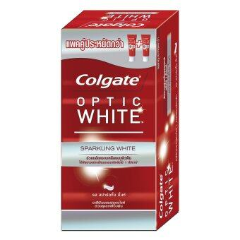 COLGATE ยาสีฟัน อ๊อฟติค ไวท์ สปาร์คกิ้ง ไวท์ 100 กรัม แพ็คคู่