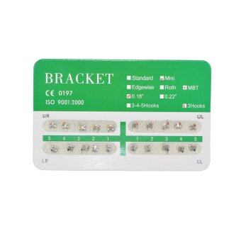 New Dental Dentist Orthodontics Brackets Mini MBT 018 3 Hooks - 20Pcs/Pack